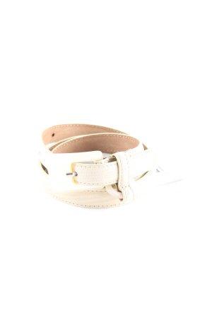 Moschino Cintura di pelle beige chiaro-marrone chiaro motivo animale elegante