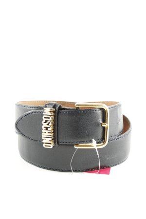 Moschino Ceinture en cuir noir style d'affaires