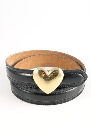 Moschino Cinturón de cuero negro look casual