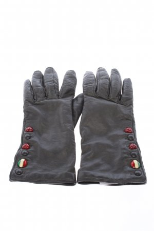 Moschino Faux Leather Gloves black casual look