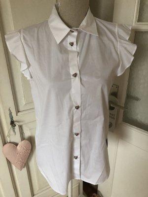 Moschino Love Bluse mit Herz Knöpfe und Rüschen neu mit Etikett 230€
