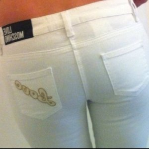 MOSCHINO Luxus Designer Jeans NP:399€ weiss Blogger Instagram Look