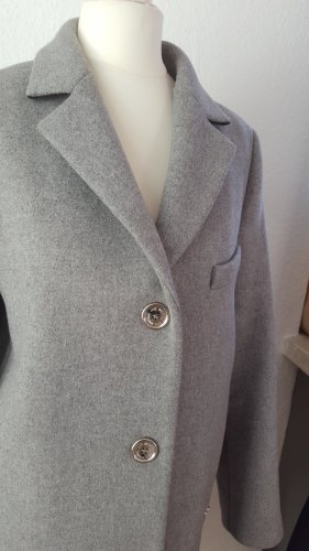Moschino Mantel Klassischer Mantel Oversized Grau Edel Zeitlos