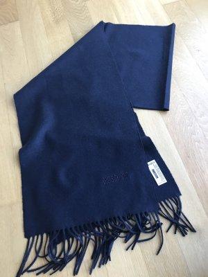 Moschino Bufanda de lana azul oscuro Lana