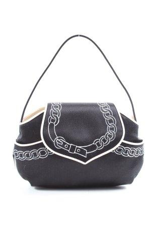 Moschino Minitasche schwarz-weiß Motivdruck Casual-Look
