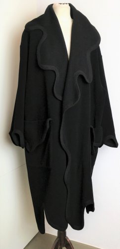 * MOSCHINO * NEU ! MANTEL UMHANG PONCHO Wolle Kaschmir CASHMERE schwarz  38 40 L / it. 44