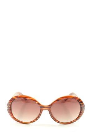 Moschino Owalne okulary przeciwsłoneczne czerwony-czarny Na całej powierzchni