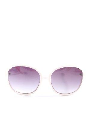 Moschino Lunettes de soleil ovales violet-blanc cassé style décontracté