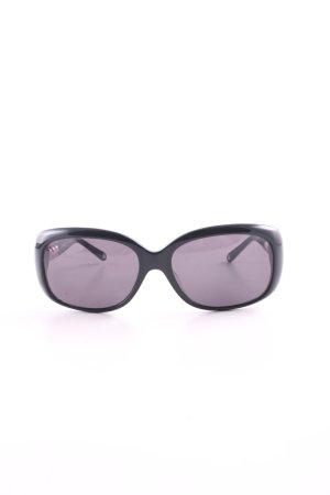 Moschino ovale Sonnenbrille schwarz Business-Look
