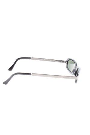 Moschino Ovale zonnebril zwart-zilver casual uitstraling
