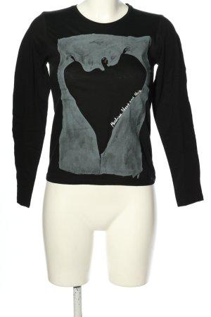 Moschino Camicia fantasia nero-grigio chiaro Stampa a tema stile casual