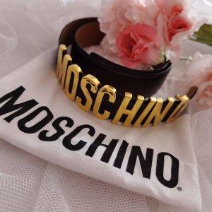 Moschino Cinturón pélvico negro Cuero