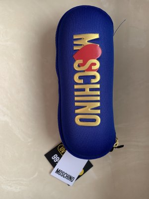 Moschino Folding Umbrella blue