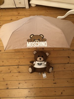 Moschino Folding Umbrella beige
