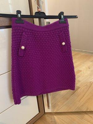 Boutique Moschino Gebreide rok violet