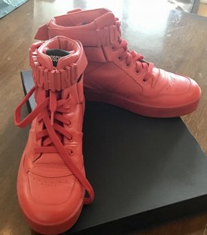 Moschino High Top Sneaker red