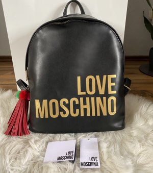 Love Moschino Backpack Trolley black-gold-colored