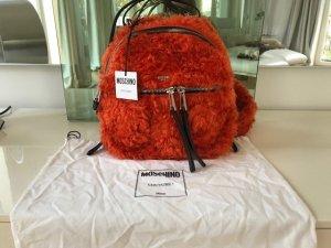 Moschino Laptop rugzak donker oranje Mohair