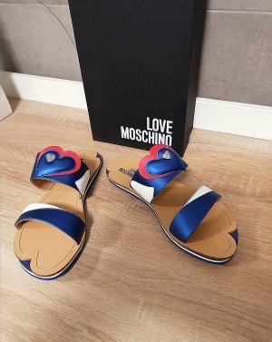 Moschino Sandalen Herz blau weiß 40