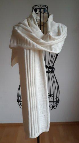 Moschino Bufanda de lana blanco puro