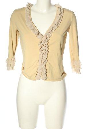 Moschino Schlupf-Bluse blassgelb extravaganter Stil