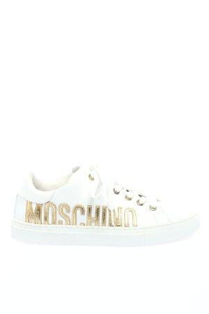 Moschino Schnürsneaker weiß-goldfarben Casual-Look