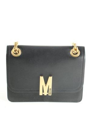 Moschino Schultertasche schwarz-goldfarben Elegant