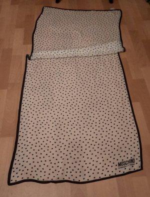 Moschino Cheap and Chic Sciarpa di seta nero-bianco