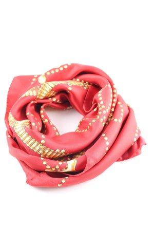 Moschino Zijden doek rood-goud volledige print casual uitstraling
