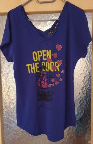Moschino V-Neck Shirt blue