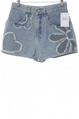Moschino Shorts himmelblau Blumenmuster Casual-Look