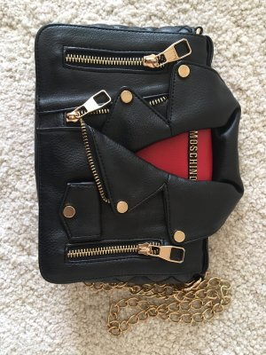 Moschino Sac porté épaule noir-rouge