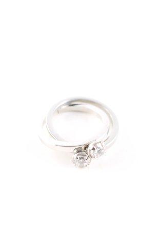 Moschino Silberring silberfarben Elegant