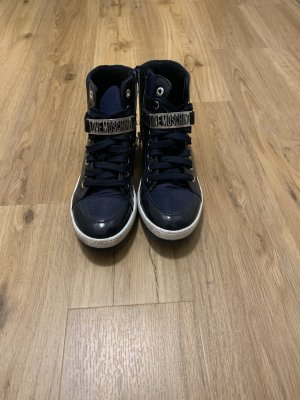 Moschino High top sneaker donkerblauw-wit