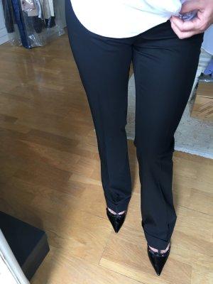 Moschino Stoff-Hose mit weitem Bein Schwarz Gr. ital. 42