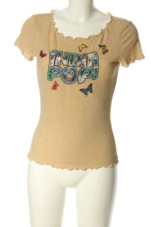 Moschino T-shirt crema caratteri stampati stile casual