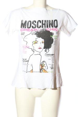 Moschino T-Shirt weiß Motivdruck Casual-Look