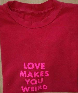 Moschino T Shirt, Gr. S, Rot, Druck,