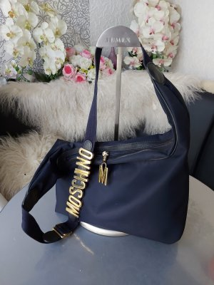 Moschino Tasche dunkelblau mit Logo Letters