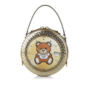 Moschino Teddy Bear Watch Leather Satchel