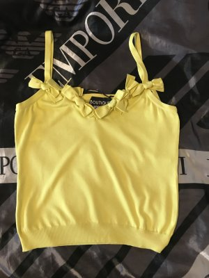 Boutique Moschino One Shoulder Top neon yellow viscose