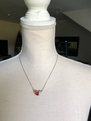 Moschino True vintage Kette Silber / rot