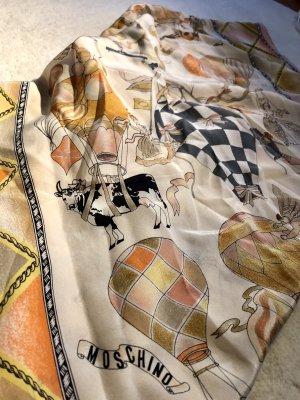 Moschino Foulard en soie multicolore soie