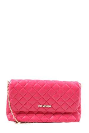 Moschino Umhängetasche pink Steppmuster Casual-Look