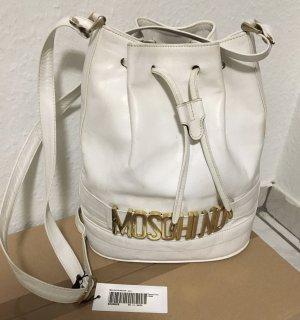 Moschino Sac seau blanc-doré