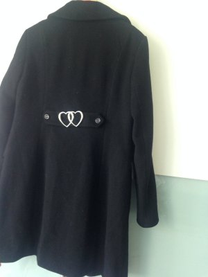 Love Moschino Manteau en laine noir