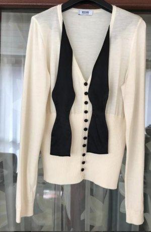 Moschino Wool Sweater natural white-oatmeal