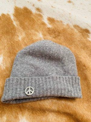 Love Moschino Woolen Hat light grey wool