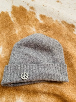 Love Moschino Woolen Hat light grey wool