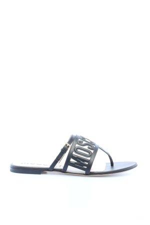 "Moschino Sandalo toe-post ""Mule Sandals"" nero"